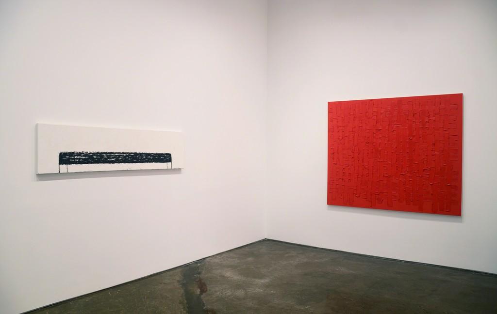 Installation view of Brant / Brennan / Zinsser (left to right: Sharon Brant, John Zinsser)