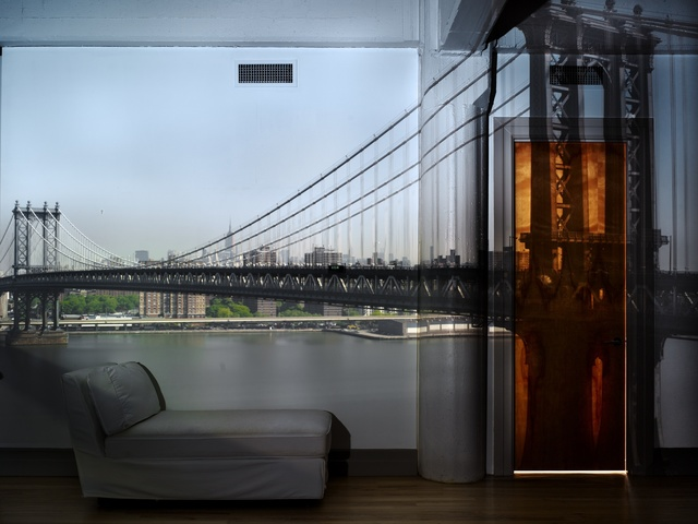 , 'Camera Obscura: View of the Manhattan Bridge, April 30th, Morning,' 2010, Huxley-Parlour