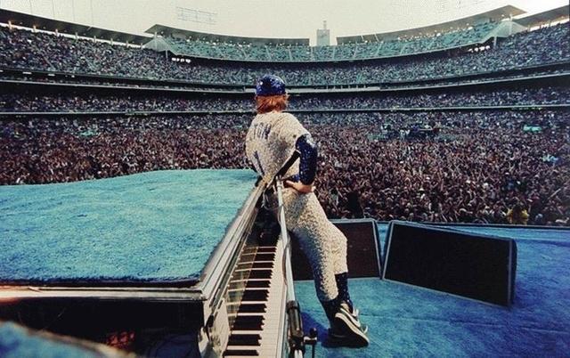 Terry O'Neill, 'Elton John - Dodger Stadium', 1975, Art Angels