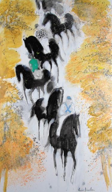 , 'L'arrivée des jockeys,' 2016, Opera Gallery