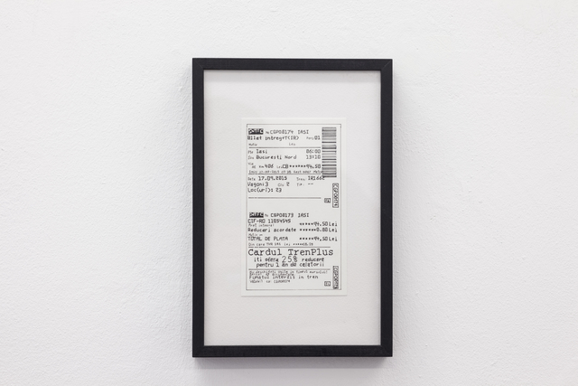 , 'Iasi- Bucharest Train Ticket,' 2016, Ivan Gallery