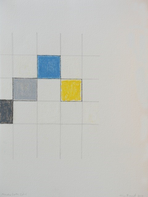 Edda Renouf, 'Meadow Larks Call #1', 2019, Drawing, Collage or other Work on Paper, Graphite, ink and oil pastel with incised lines on Arches pape, Barbara Mathes Gallery