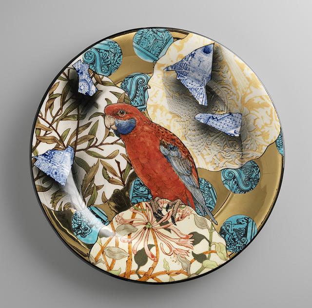 , 'Crimson Rosella Camouflage Plate,' 2014, Ferrin Contemporary