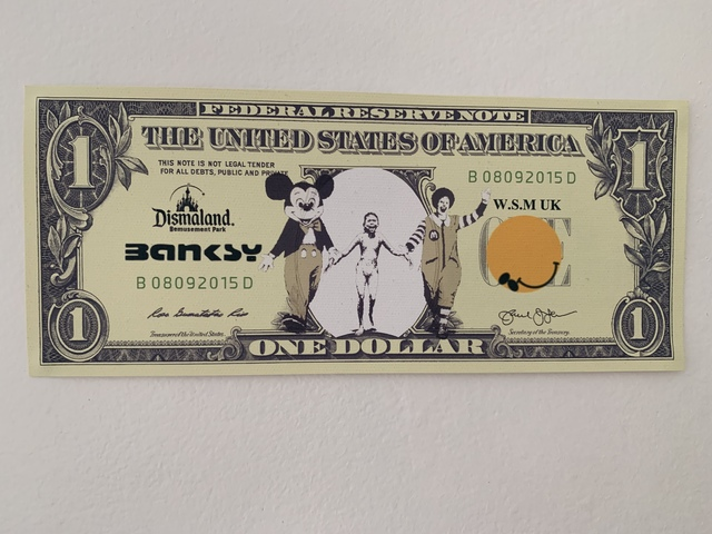 "Banksy, 'BANKSY DISMALAND US DOLLAR ""NAPALM"", DISMAL DOLLAR, COMPLETE WITH COA,', 2015, Arts Limited"