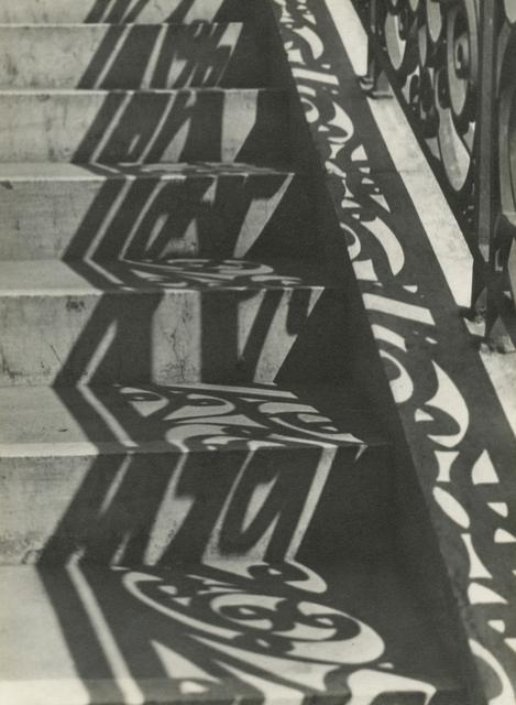 Iwao Yamawaki, 'Stairs and Shadow', 1932, Photography, Gelatin silver print; printed c.1932, Howard Greenberg Gallery