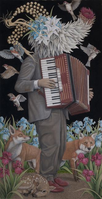 Win Wallace, 'Accordion Player', 2019, Jonathan LeVine Projects