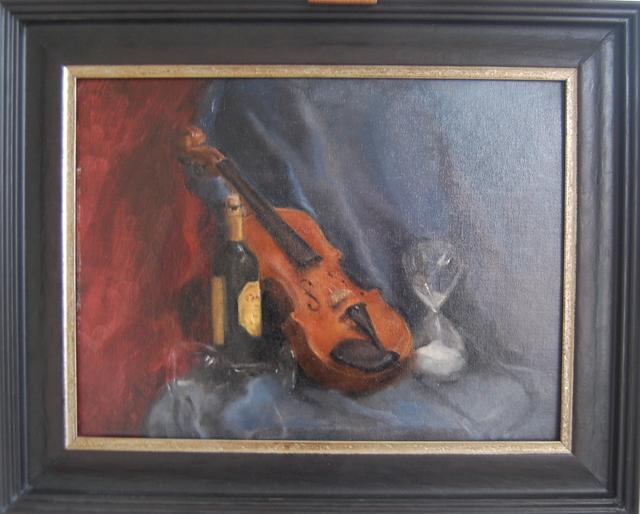 , 'Still life with violin,' 2018, Robert Eagle Fine Art
