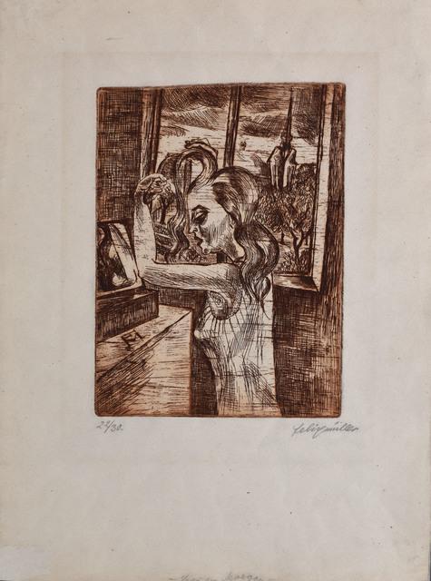 , 'Woman in the Morning - Grooming | Frau in der Morgen Kämmen,' 1920, Gilden's Art Gallery