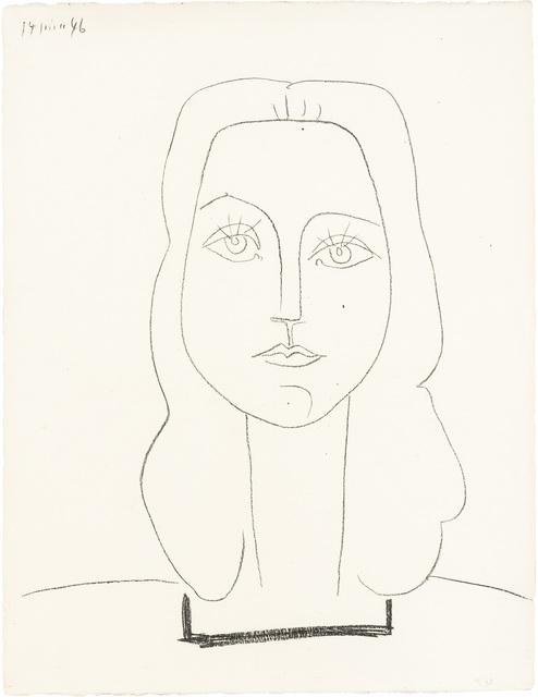 Pablo Picasso, 'FRANÇOISE (MOURLOT 39)', 1946, Print, Lithograph on wove paper, Doyle