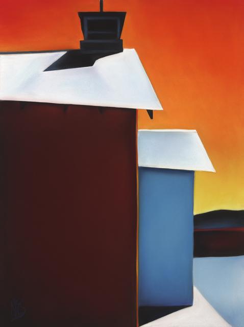 , 'White Roofs Bright Walls 18-18,' 2018, Ventana Fine Art