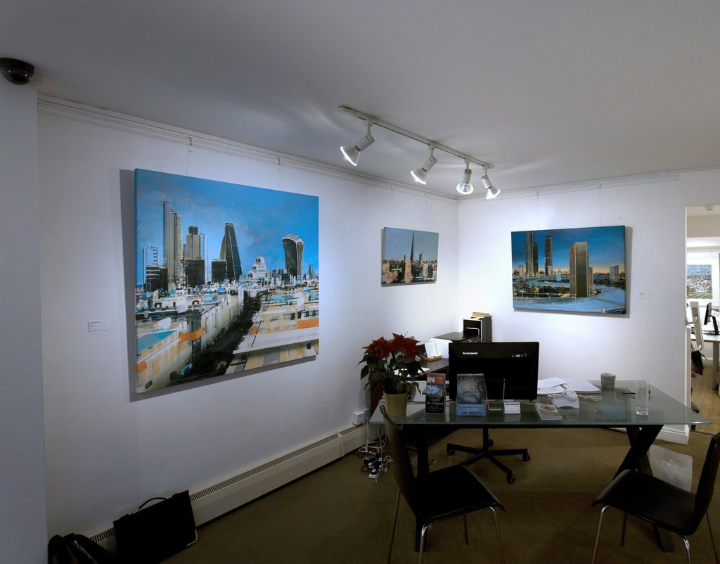 Christopher Farrell 'Vantage Point' Exhibition View (London Paintings)