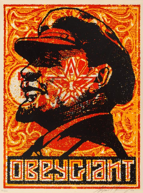 Shepard Fairey, 'Lenin Stamp Poster', 2000, Print, Screenprint in colors on cream paper, Heritage Auctions