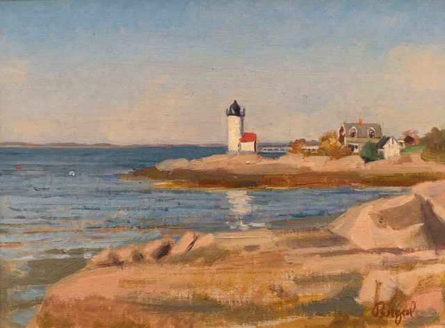 Theresa Pergal, 'Annisquam Lighthouse', 2020, Painting, Oil, The Guild of Boston Artists