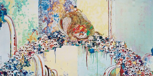 Takashi Murakami, 'A Picture of the Blessed Lion Who Stares at Death', 2012, Hang-Up Gallery