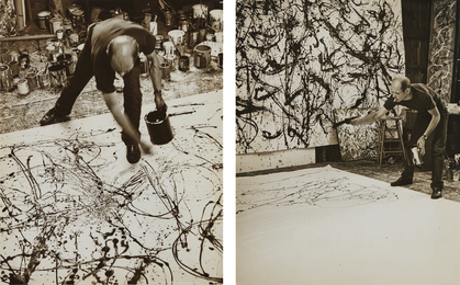 Selected Images of Jackson Pollock painting