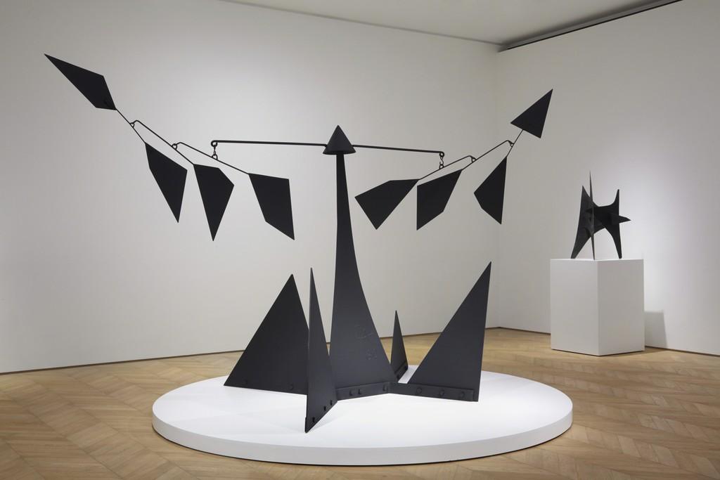 """Installation view, """"Alexander Calder,"""" Pace Gallery, Hong Kong, 2016."""