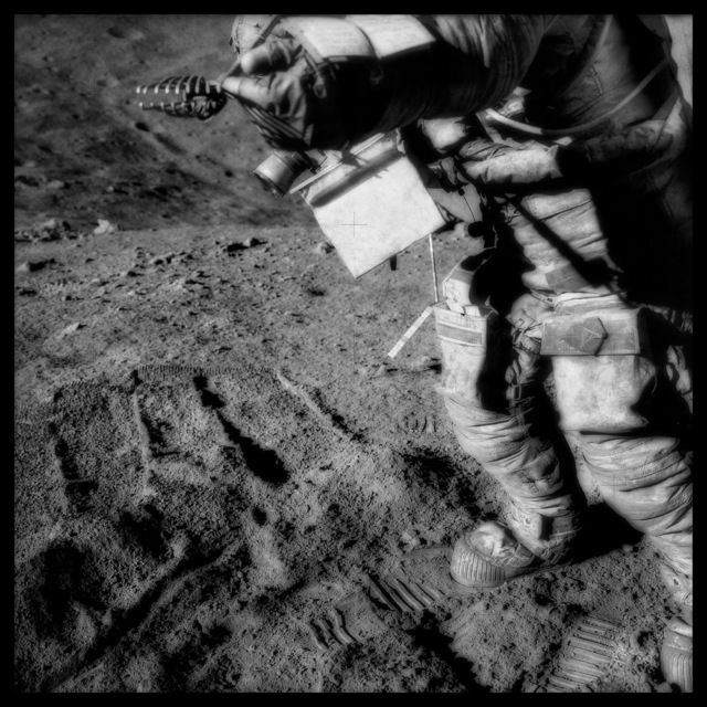 , '076 David Scott Manipulates Collection Tongs at Spur Crater; Photographed by James Irwin, Apollo 15, July 26-August 7, 1971,' 1999, Danziger Gallery