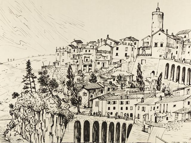 , 'View of Nemi,' 1956, ACA Galleries