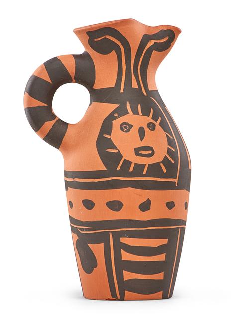 Pablo Picasso, 'Pitcher, Yan Sun', des. 1963, Design/Decorative Art, Earthenware decorated in engobe, France, Rago/Wright