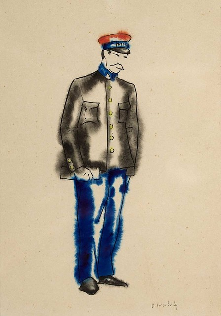 "David Kakabadze, 'Costume design for ""Chef of the station""', 1947, Baia Gallery"