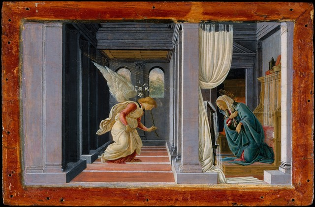 Sandro Botticelli, 'The Annunciation', ca. 1485-1492, The Metropolitan Museum of Art