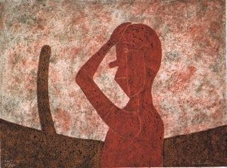 Rufino Tamayo, 'Busto en Rojo ( Bust in Red)', 1984, Stern Fine Art