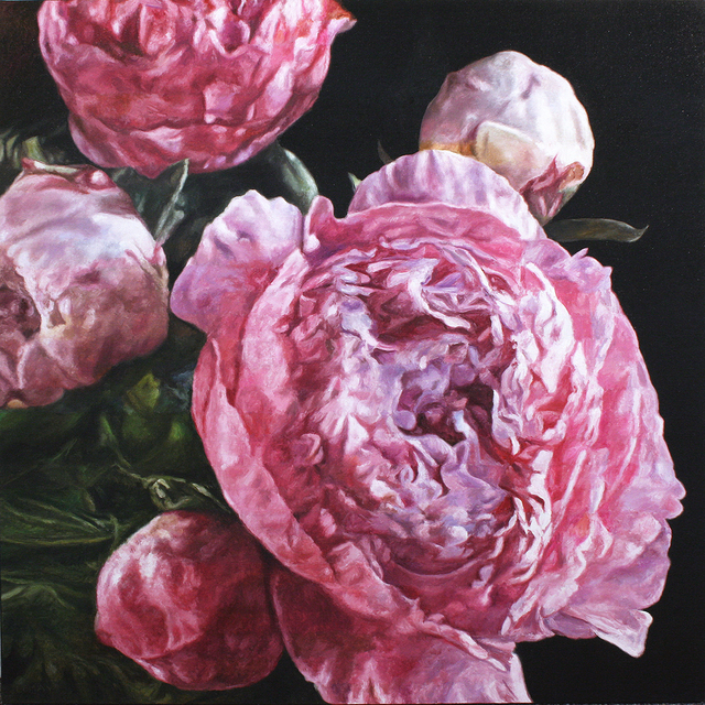robert lemay, 'Pink Peonies', 2019, Wallace Galleries