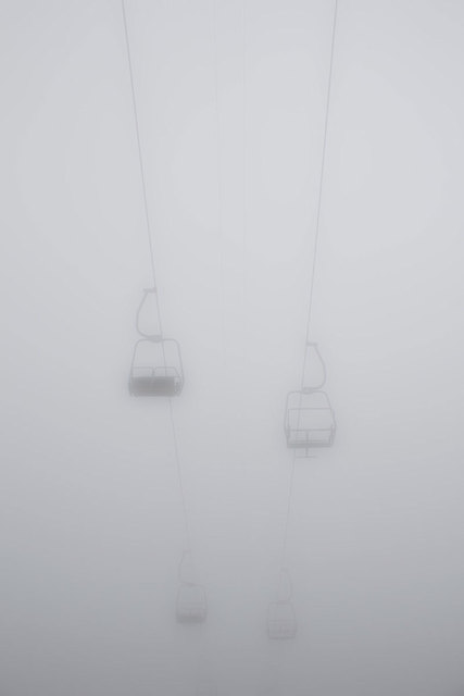 , 'Sessellift im Nebel, Verbier, Switzerland,' 2014, Opiom Gallery