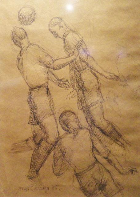 """, '""""Jugadores de futbol"""",' 1935, GALERÍAS A. CRISTOBAL"""