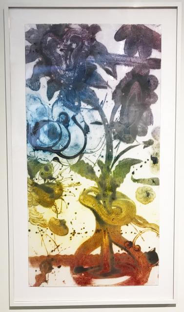 , 'Reverse Carborundum Painting (Violets),' 2015, Conduit Gallery