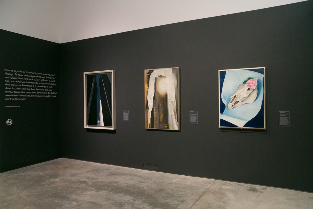 "Installation view of ""O'Keeffe, Stettheimer, Torr, Zorach: Women Modernists in New York"" at Norton Museum of Art, West Palm Beach (2016). Photo credit: Tom Brodigan, Courtesy of Norton Museum of Art"