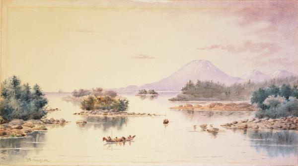 Theodore J. Richardson, 'Sitka Bay, Alaska', 1889, Painting, Watercolor, White House Historical Association