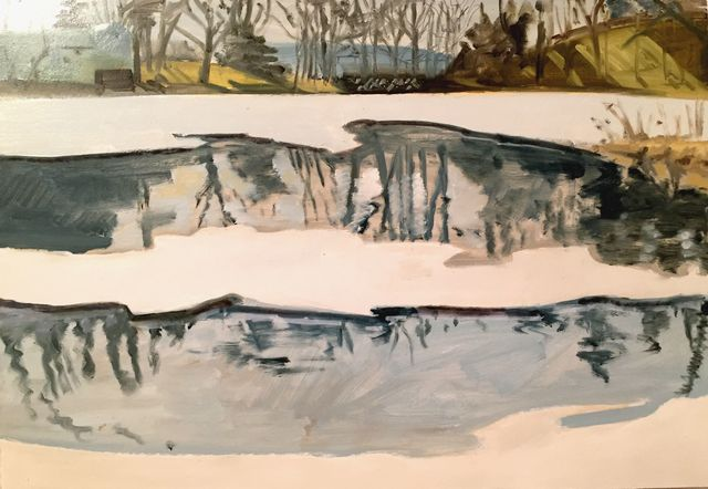 , 'Feb 23 '85 (Blair Pond),' 1985, Hal Bromm
