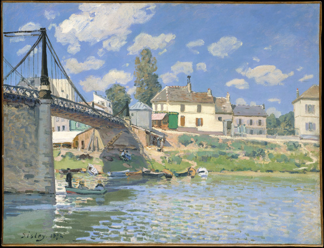 , 'The Bridge at Villeneuve-la-Garenne,' 1872, The National Gallery, London