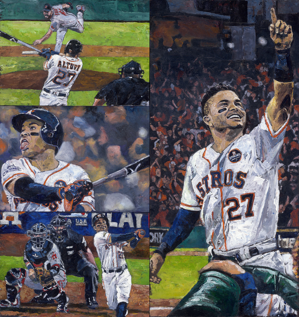 , 'Altuve Three Home Runs ALDS Game 1,' 2018, Off the Wall Gallery