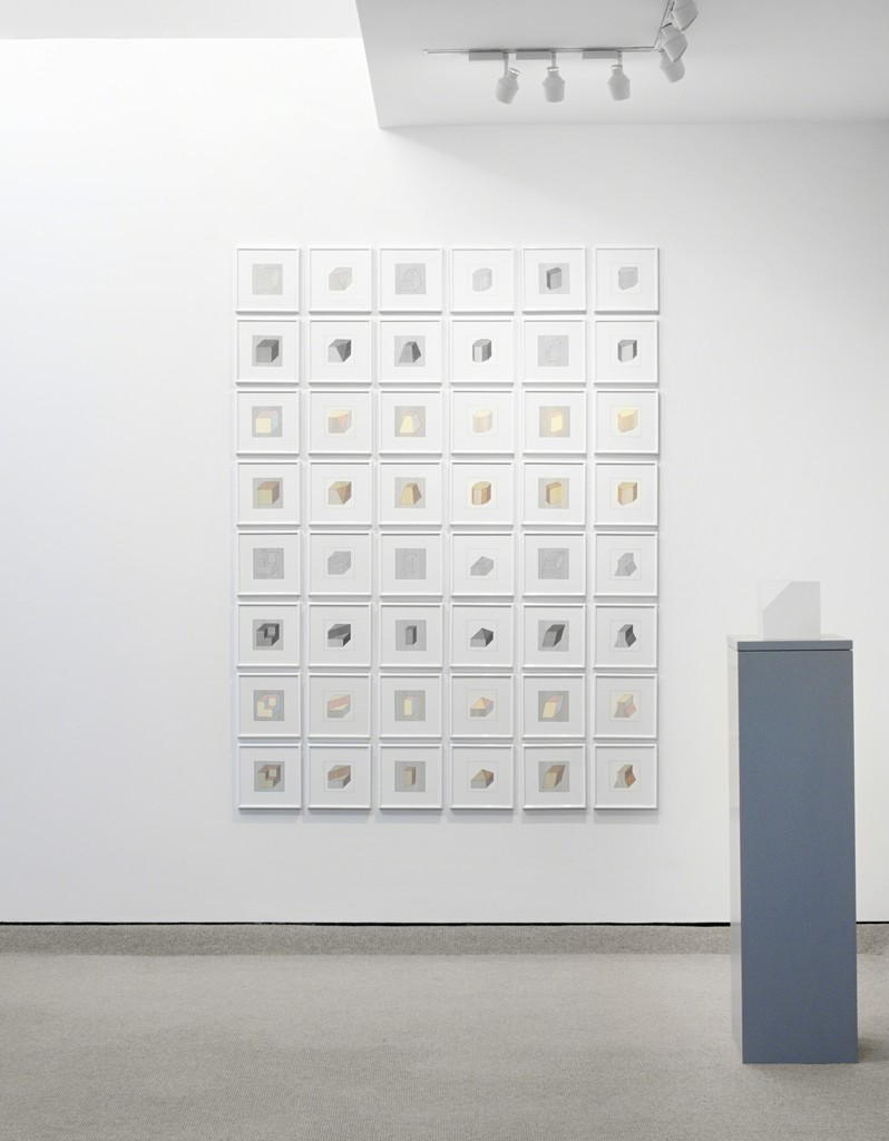 Twelve Forms Derived From a Cube, 1984 and Cube Without A Corner, 2005