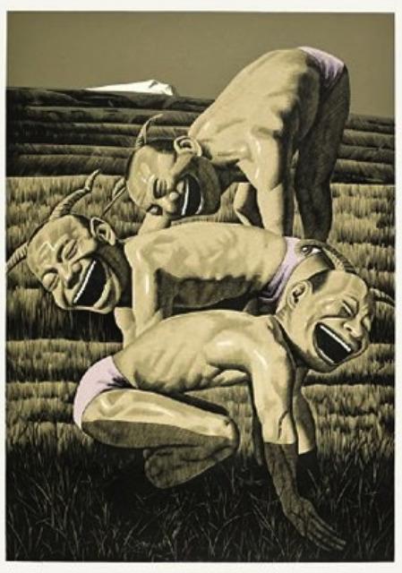 , 'The Grassland Series Woodcut 3 (Three Figures),' 2008, Ethan Cohen New York