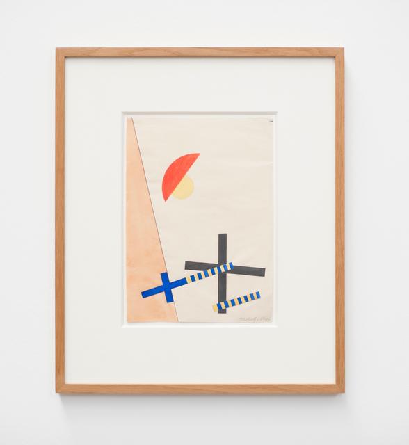 , 'Collage mit 2 Kreuzen,' 1922, von Bartha