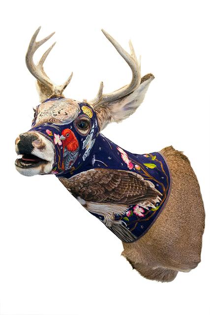 , 'Deer Head - Blue,' 2016, Antieau Gallery