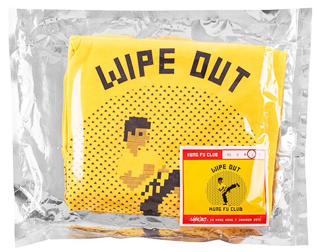 Invader, 'KUNG FU CLUB (Yellow Large T-shirt)', 2015, Silverback Gallery
