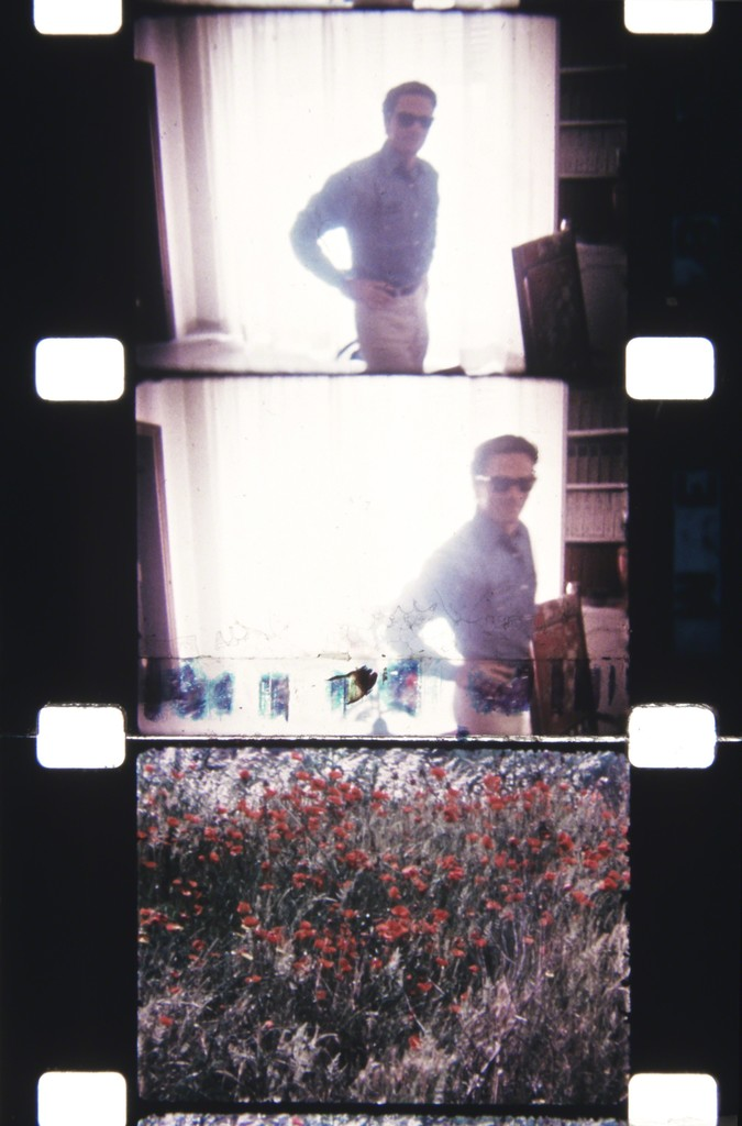 Pier Paolo Pasolini, Rome—at his home, June 1967 Flower frame: Assisi
