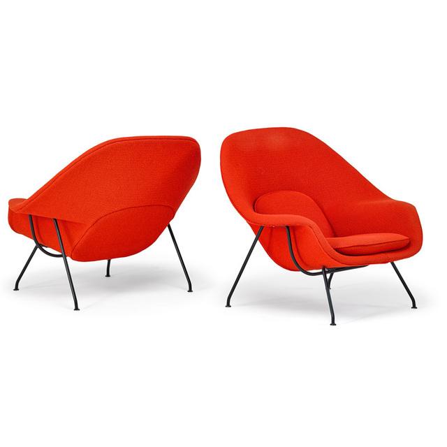 Eero Saarinen, 'Pair of Womb chairs, New York', 1970s, Rago