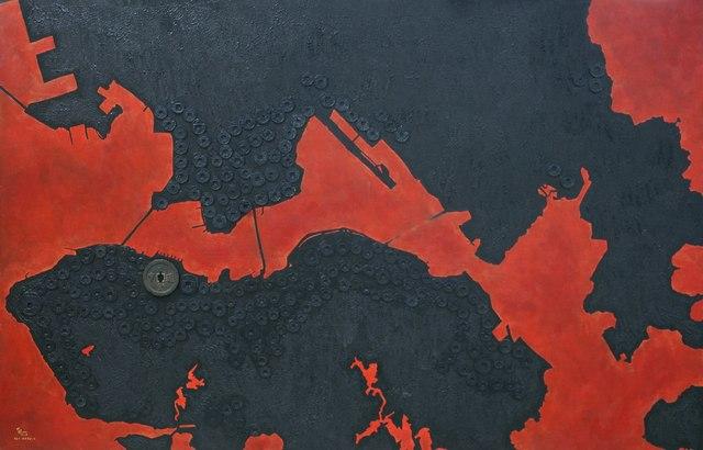 , 'Red Harbour,' 2017, Yuan Ru Gallery