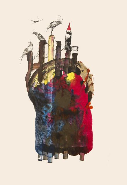 Frank David Valdés, 'So far away', 2019, Painting, Mixed media on paper, ArteMorfosis - Cuban Art Platform
