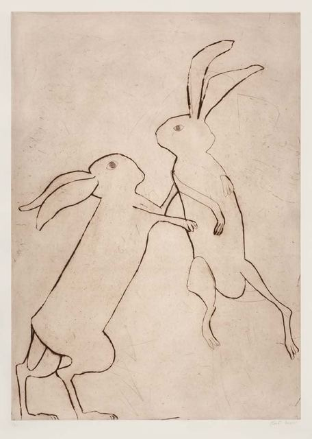 , 'Boxing Hares,' 2015, The Biscuit Factory