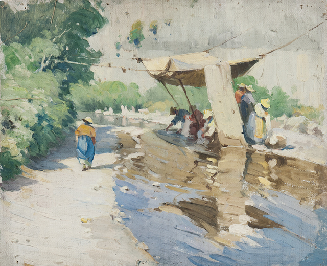 Mabel Woodward, 'Wash Day, Italy', Skinner