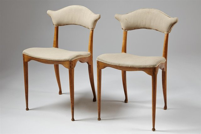 , 'Two pierced back chairs,' 1949, Modernity