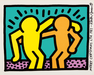 Keith Haring, 'Best Buddies, from Pop Shop I,' 1987, Phillips: Evening and Day Editions (October 2016)