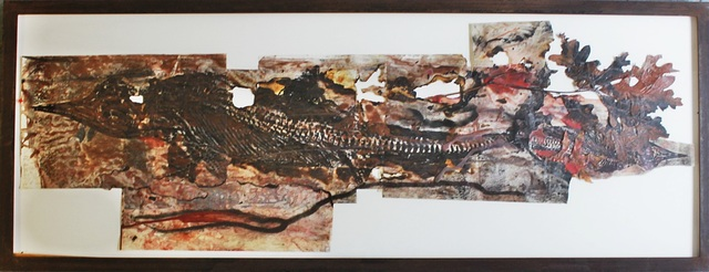 , 'Unique mixed media collage in artist made frame from Andre Emmerich Gallery & Bellas Artes gallery labels,' 1994, Alpha 137 Gallery