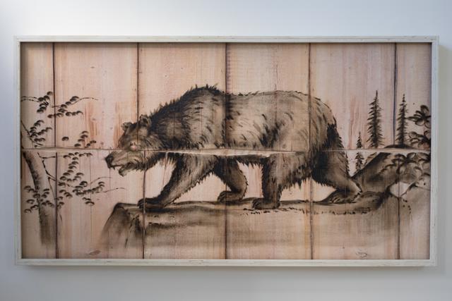 , 'Black Bear Engraving Painting,' 2018, Mark Moore Fine Art